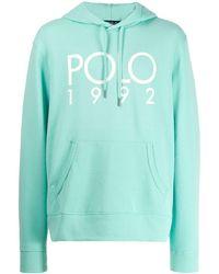 Polo Ralph Lauren Hoodie Met Logoprint - Blauw