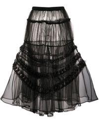 Comme des Garçons チュールスカート - ブラック