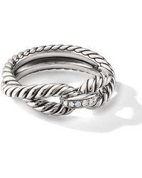 David Yurman Cable Loop ダイヤモンド リング - メタリック