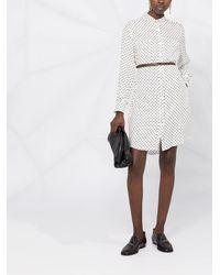 Fabiana Filippi Платье Мини В Горох С Поясом - Белый