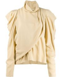 Lemaire Draped Front Blouse - Natural