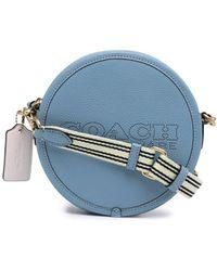COACH ロゴ ショルダーバッグ - ブルー