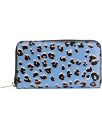 ESCADA Leopard Print Wallet - Blue
