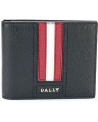 Bally Tarrish Stripe Detail Billfold Wallet - Black