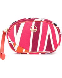Emilio Pucci Sal Print Terry Beauty Case - Pink