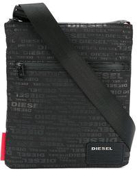 DIESEL ロゴプリント ショルダーバッグ - ブラック