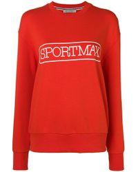 Sportmax - Logo Print Sweatshirt - Lyst