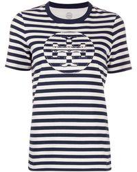 Tory Burch ストライプ Tシャツ - ブルー