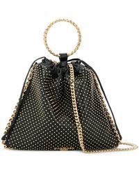 Balmain - Metallic Handle Studded Bag - Lyst