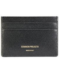 Common Projects Logo Stamp Cardholder - Black