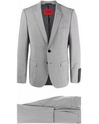 HUGO ツーピース シングルスーツ - グレー