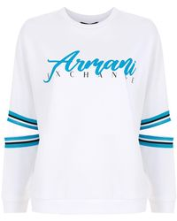 Armani Exchange ロゴ スウェットシャツ - ホワイト