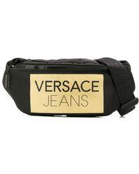 ef8ffaf732 Versace Jeans - Sac banane zippé à logo - Lyst
