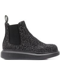 Alexander McQueen - Stiefel mit Glitter - Lyst