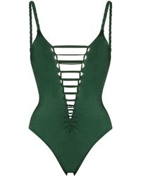 Agent Provocateur Marlow Cut-out Swimsuit - Green