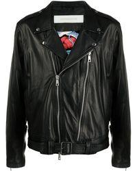 Giorgio Brato レザー ライダースジャケット - ブラック