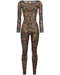 DSquared² - Bodysuit mit Tatoo-Print - Lyst
