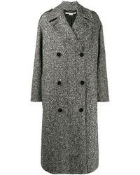 Stella McCartney Double-breasted marled coat - Nero