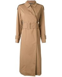 MUVEIL - Belted Trench Coat - Lyst