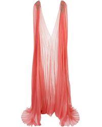 Marchesa デコラティブ ドレス - オレンジ