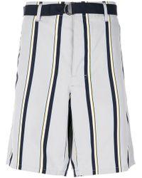 Prada - Striped Bermuda Shorts - Lyst