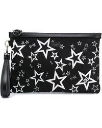 Dolce & Gabbana Bolso de mano con estampado de estrellas - Negro