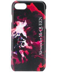 Alexander McQueen Чехол Для Iphone 6/7/8 С Принтом - Черный