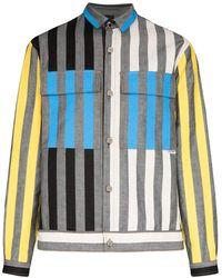 Sunnei Arman ストライプ シャツジャケット - グレー