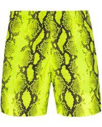 Off-White c/o Virgil Abloh Snake Print Swim Shorts - Yellow
