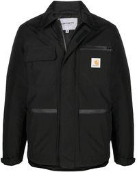 Carhartt WIP ロゴ ジップアップ コート - ブラック
