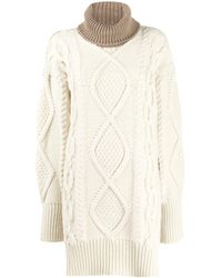 JOSEPH Turtle Neck Cable Knit Sweater - Natural