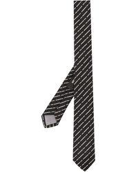DSquared² Krawatte mit Logo-Stickerei - Schwarz