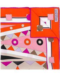 Emilio Pucci Платок С Геометричным Принтом - Оранжевый