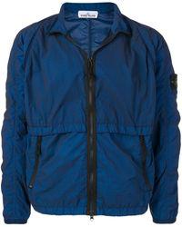 Stone Island Куртка С Нашивкой-логотипом - Синий