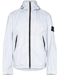 Stone Island Lightweight Hooded Jacket - Blue