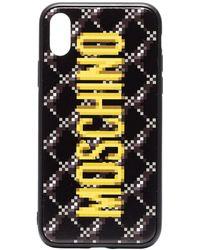 Moschino Iphone Xs Hoesje Met Logoprint - Zwart