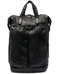 Officine Creative Helmet 28 Buffalo Leather Backpack - Black