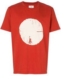 Folk プリントtシャツ - レッド