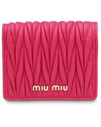 Miu Miu マテラッセ 財布 - ピンク