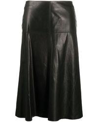 Arma ハイウエスト レザースカート - ブラック