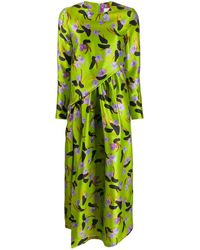 Christian Wijnants - Floral Print Midi Dress - Lyst