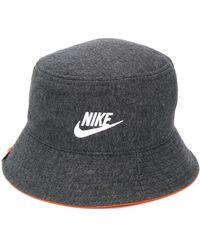 Nike Fischerhut mit Logo-Stickerei - Grau
