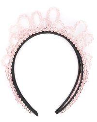 Simone Rocha Headband with Pink Beads - Rosa