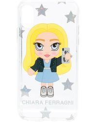 Chiara Ferragni @cfmascotte iPhone XS-Hülle - Mehrfarbig