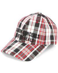 Juun.J Plaid Cap - Red
