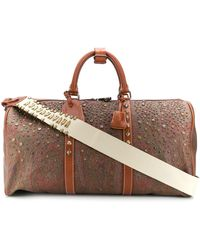 Etro Studded Paisley-print Holdall - Brown