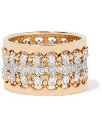 Annoushka Кольцо Crown Из Белого И Желтого Золота С Бриллиантами - Металлик
