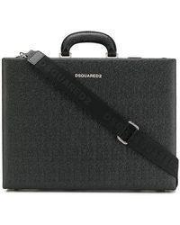 DSquared² Textured Leather Briefcase - Черный