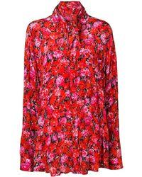 Balenciaga Эксклюзивно На Farfetch - Блузка С Цветочным Принтом - Красный
