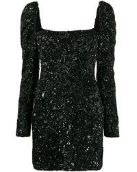 Amen スパンコール ドレス - ブラック